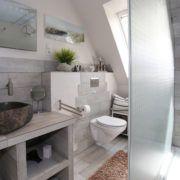 Ferienwohnung Duene Bad mit Dusche