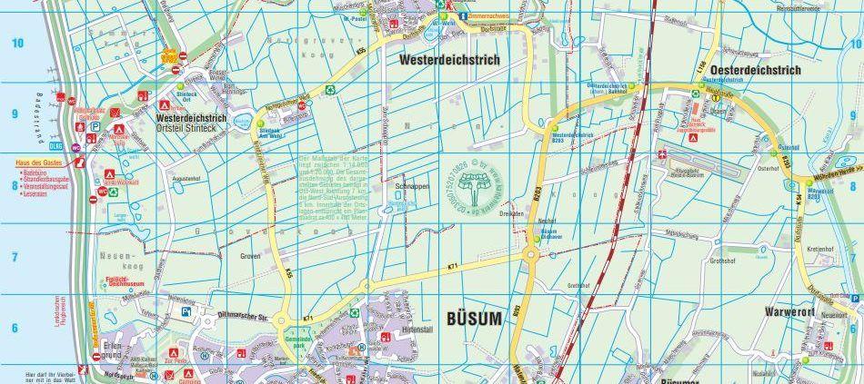 Stadtplan von Buesum